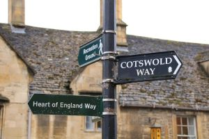 Cotswold Way Footpath sign