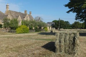 Hay making on the Village Green in Wyck Rissington